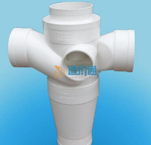 PE地源热泵管件五通图片