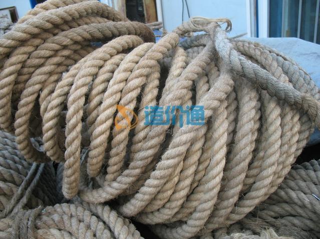 白麻绳图片