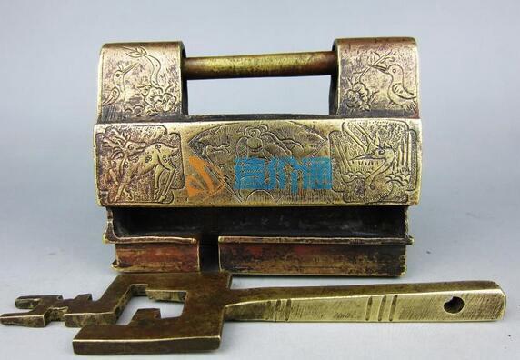 长梁铜锁(厚型)图片