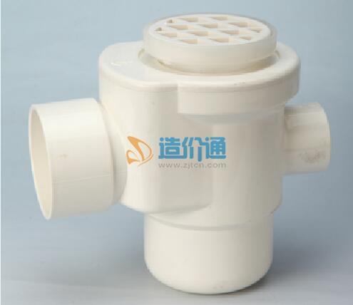 PVC-U环保排水管道配件系列-圆型水封地漏图片