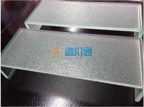 双面钢化蒙砂玻璃图片