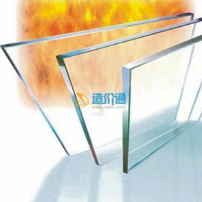 单片色钾防火玻璃图片