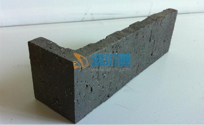 劈开砖(浅棕色阴阳角砖)图片