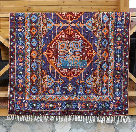 手织羊毛挂毯图片