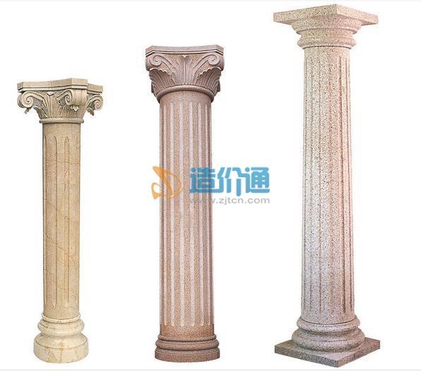 石雕石柱-龙柱(复杂)图片