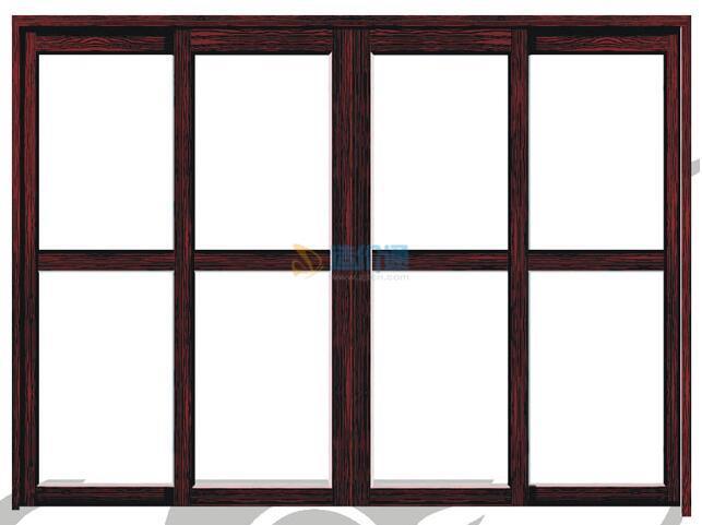 柳安木防火窗图片