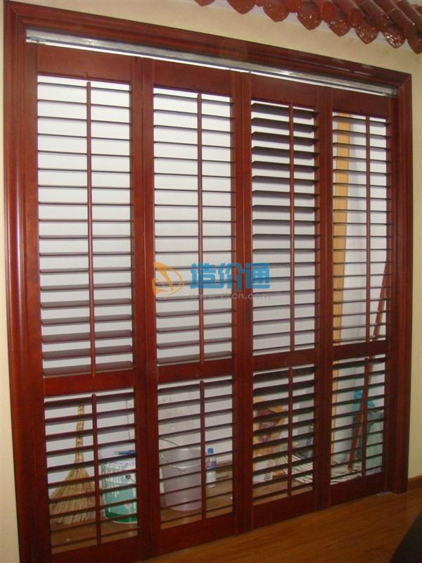 硬木百叶窗、硬木满洲窗图片