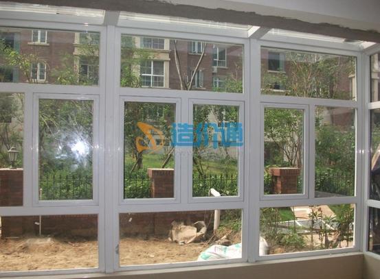 88系列三轨带纱推拉窗图片