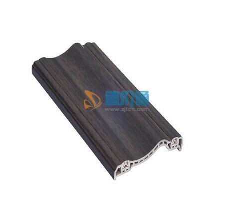 栗子色塑木线条图片