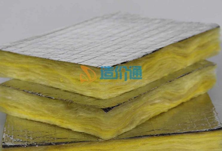 空调保温铝箔棉板图片