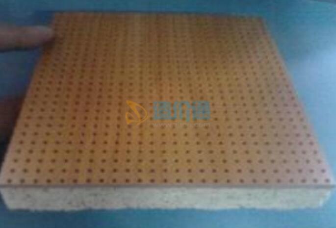吸音材料-木质穿孔吸音板图片