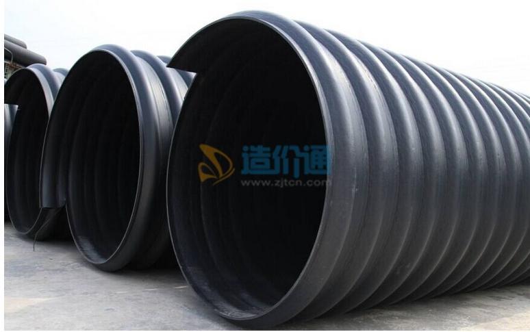 PE双平壁钢塑复合缠绕管(埋地排水用)图片