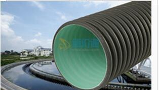HDPE钢带螺旋波纹管图片