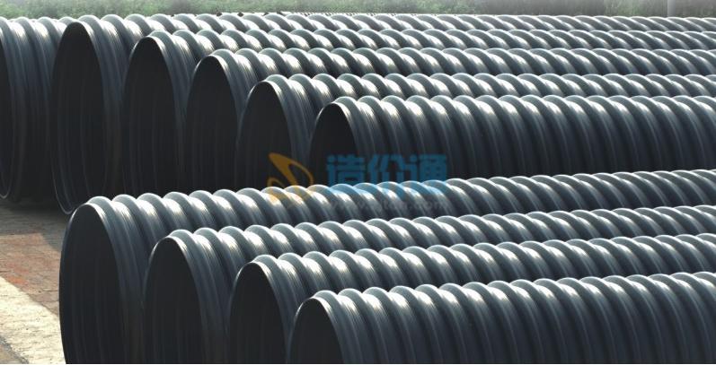 钢带增强PE螺旋波纹管材图片