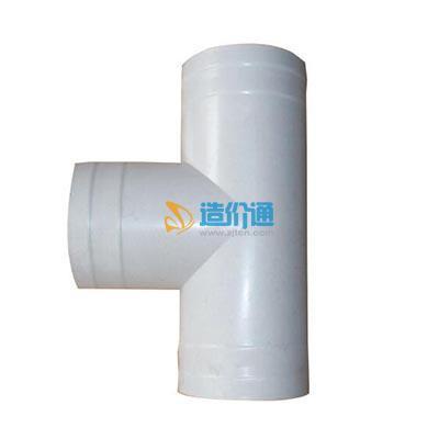 给水用PVC-U整体成型R-R柔性接口管件二承一插异径三通图片