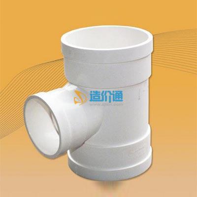 PVC-U排水手工焊接管件-90°顺水三通(带检口)图片