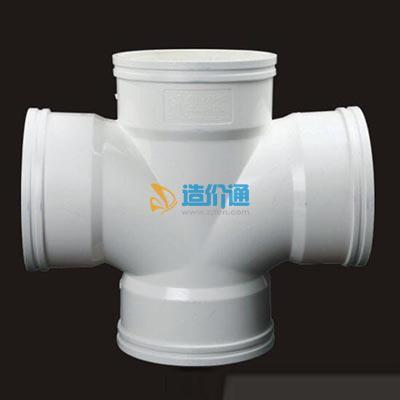 PVC-U排水管件-顺水四通图片