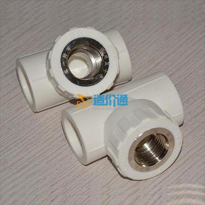 PVC-U内螺纹镶铜三通图片