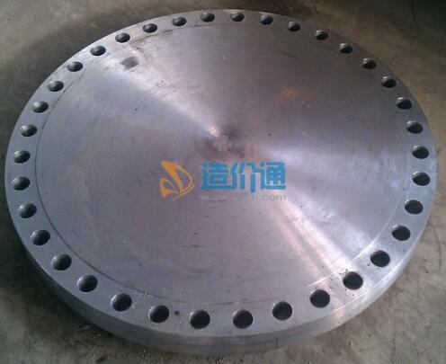 凸面钢制管法兰盖图片