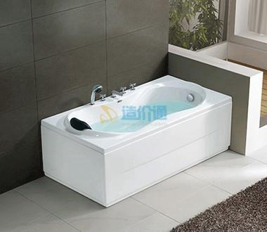 珠光冲浪按摩浴缸图片