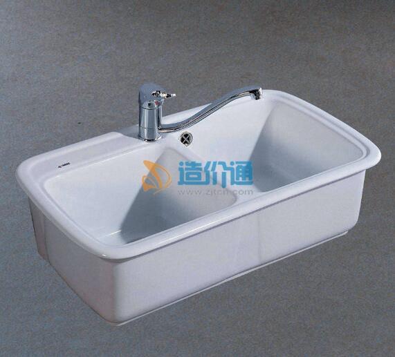 普洛特大小槽全能厨盆(不含挂墙式配件)图片