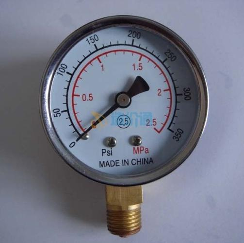 一般压力表弹簧管压力表图片