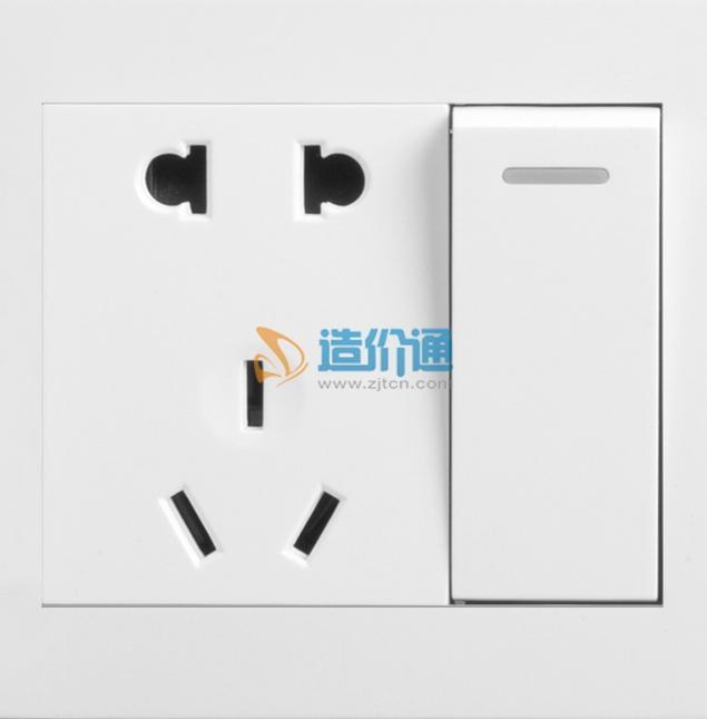 两极带接地插座图片