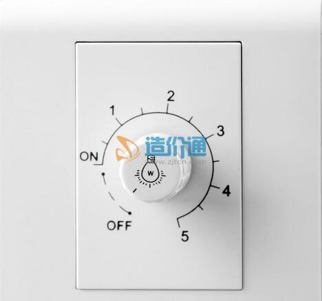 单联带灯大翘板调光开关(循环操作)图片