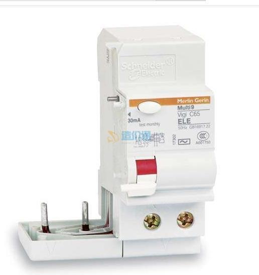 微型断路器带过压保护电子式漏电附加器图片