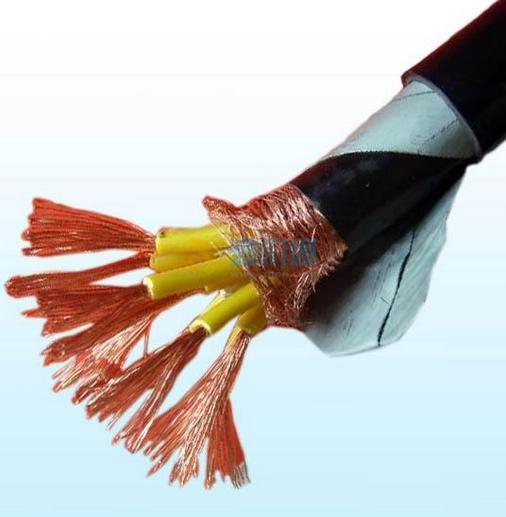 铜芯氟塑料钢带铠装铜带屏蔽高温控制屏蔽电缆KFGP23×1图片