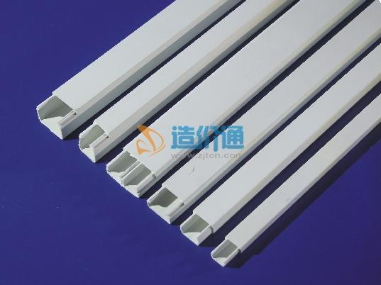 阻燃绝缘PVC圆弧形地板线槽图片