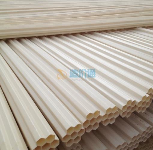 PVC四孔栅格管图片