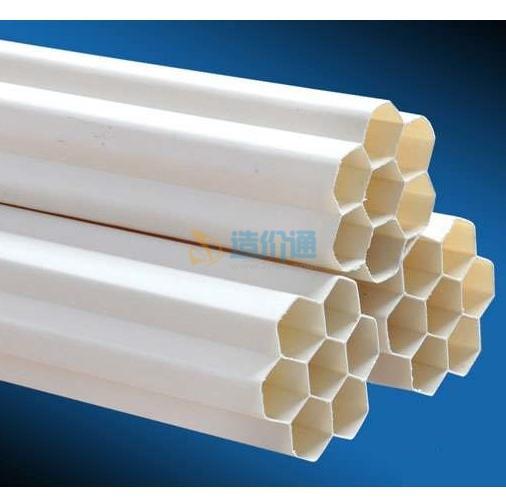 UPVC电缆护套多孔管图片