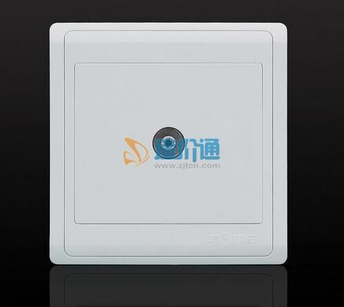 TV/FM调离同轴天线双孔插座图片