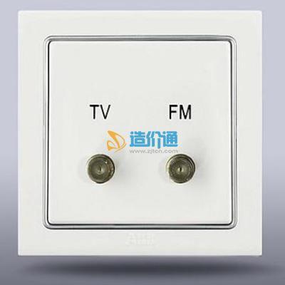 宽频电视调频插座(5-1000MHZ,全屏蔽)图片