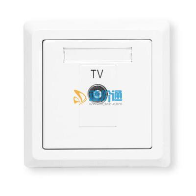 电视串接插座一分支图片