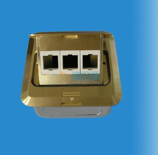 铜制双联电话带电脑地插图片