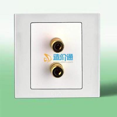 BJ单联音响插座图片