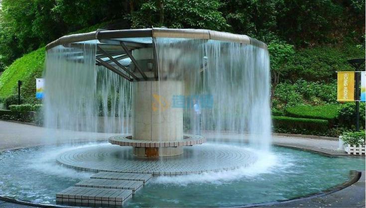 喷泉跌水图片
