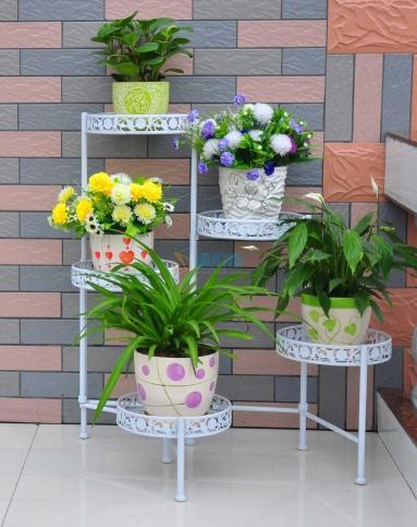 木质花架图片