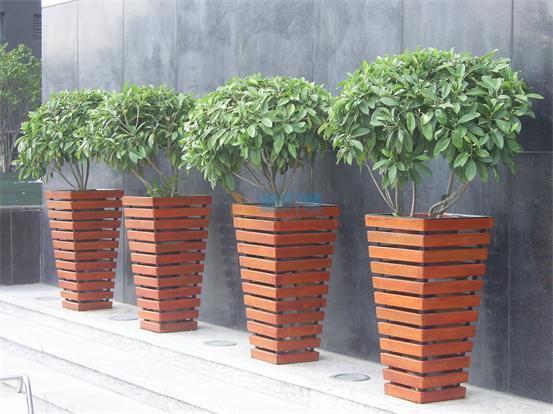 防腐木花箱图片