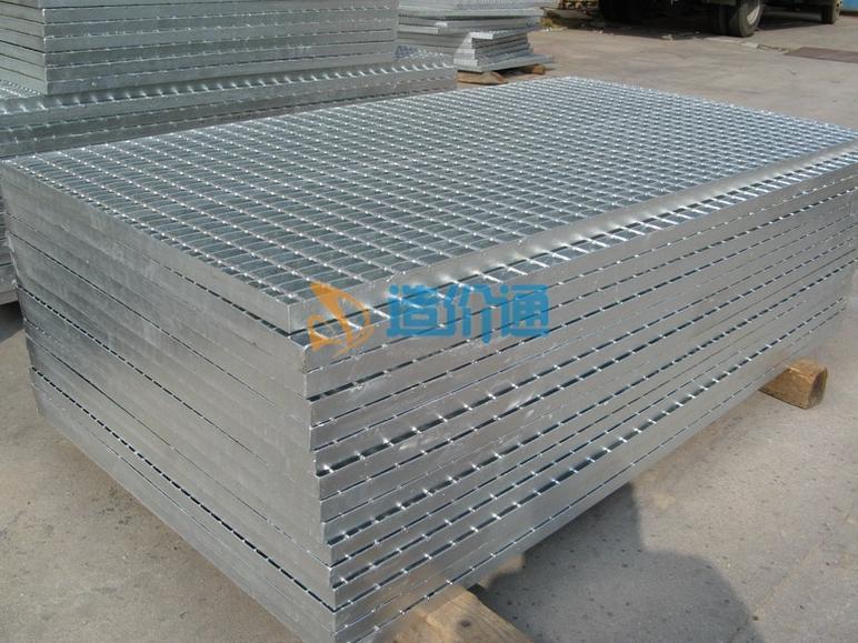 Q235镀锌梯踏板钢格板图片
