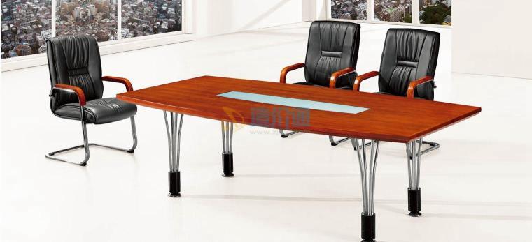 实木颗粒板会议桌图片