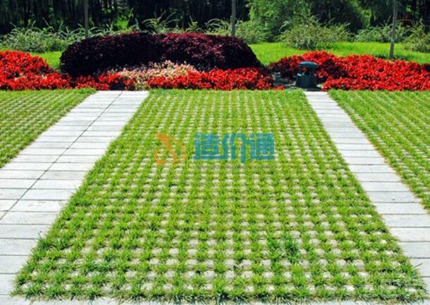 六边植草砖图片
