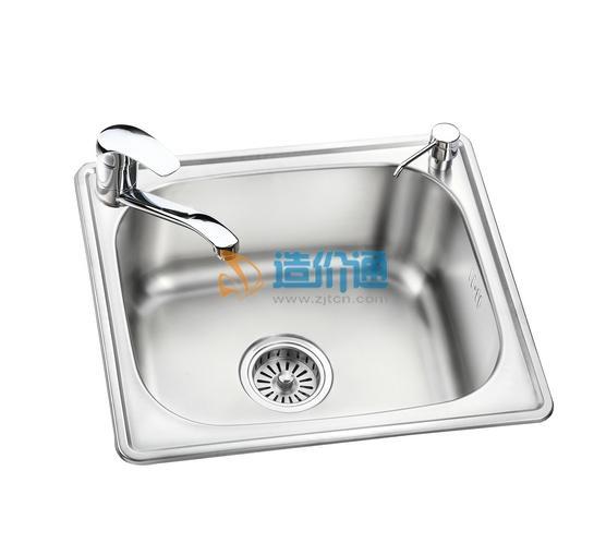 大型单槽洗碗池图片