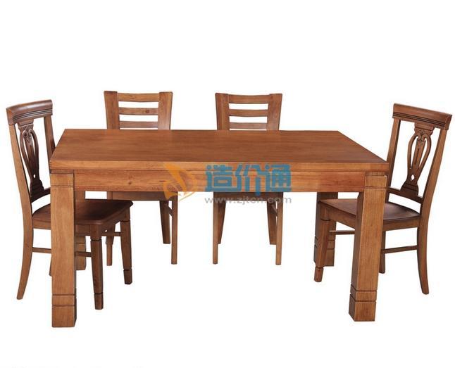实木大餐桌图片
