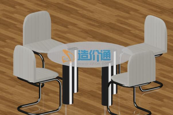 大理石方桌一桌四椅组合-铸铝桌椅图片