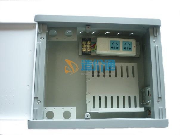 10U家居光纤布线箱(钣金面盖)图片