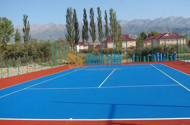 塑胶网球场图片