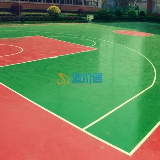 硅PU复合型球场图片